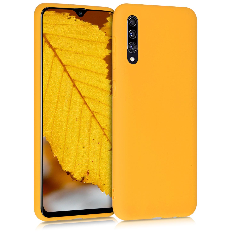 Kvalitní silikonové TPU pouzdro pro Samsung A30s - šafránově žluté