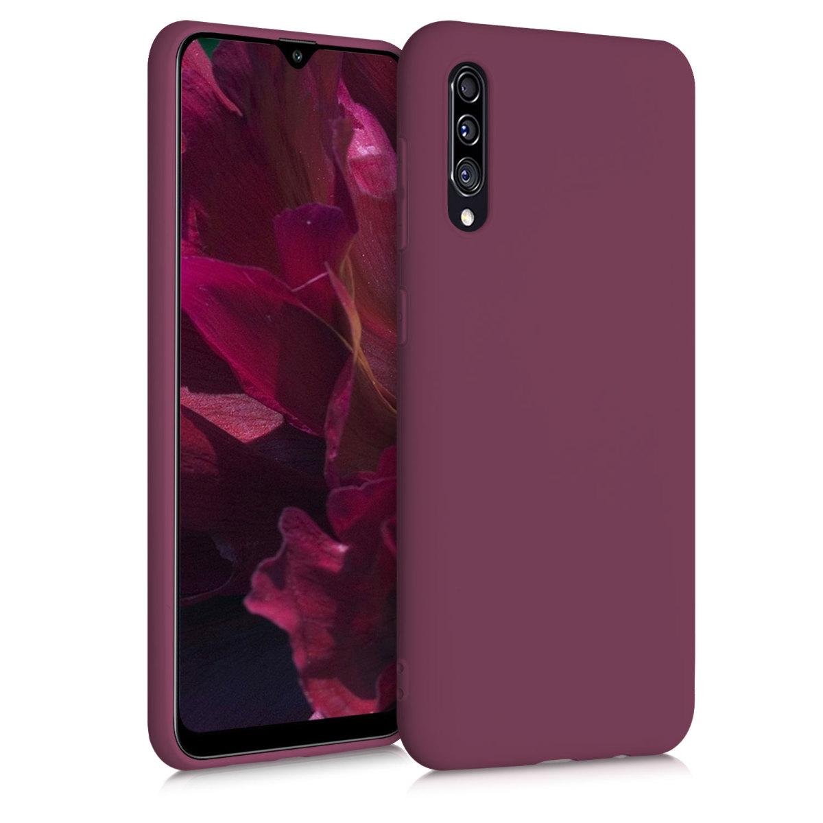 Kvalitní silikonové TPU pouzdro pro Samsung A30s - Bordeaux fialové