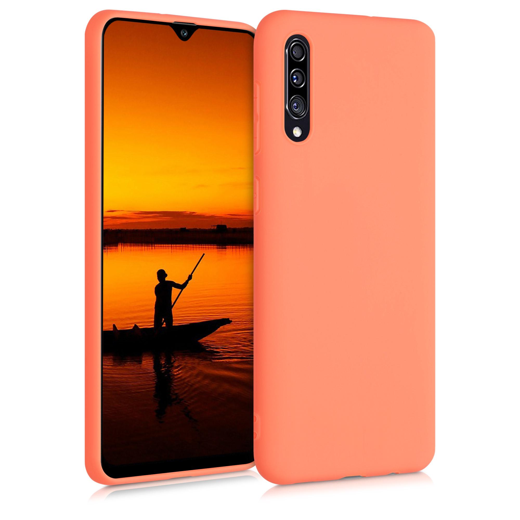 Kvalitní silikonové TPU pouzdro pro Samsung A30s - Sunrise Orange