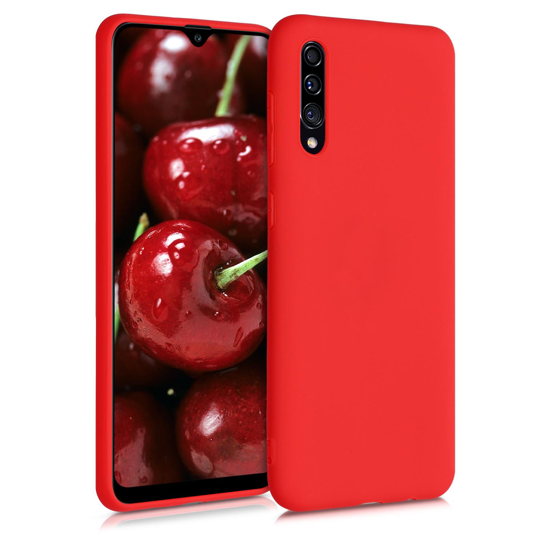 Kvalitní silikonové TPU pouzdro pro Samsung A30s - Red Matte