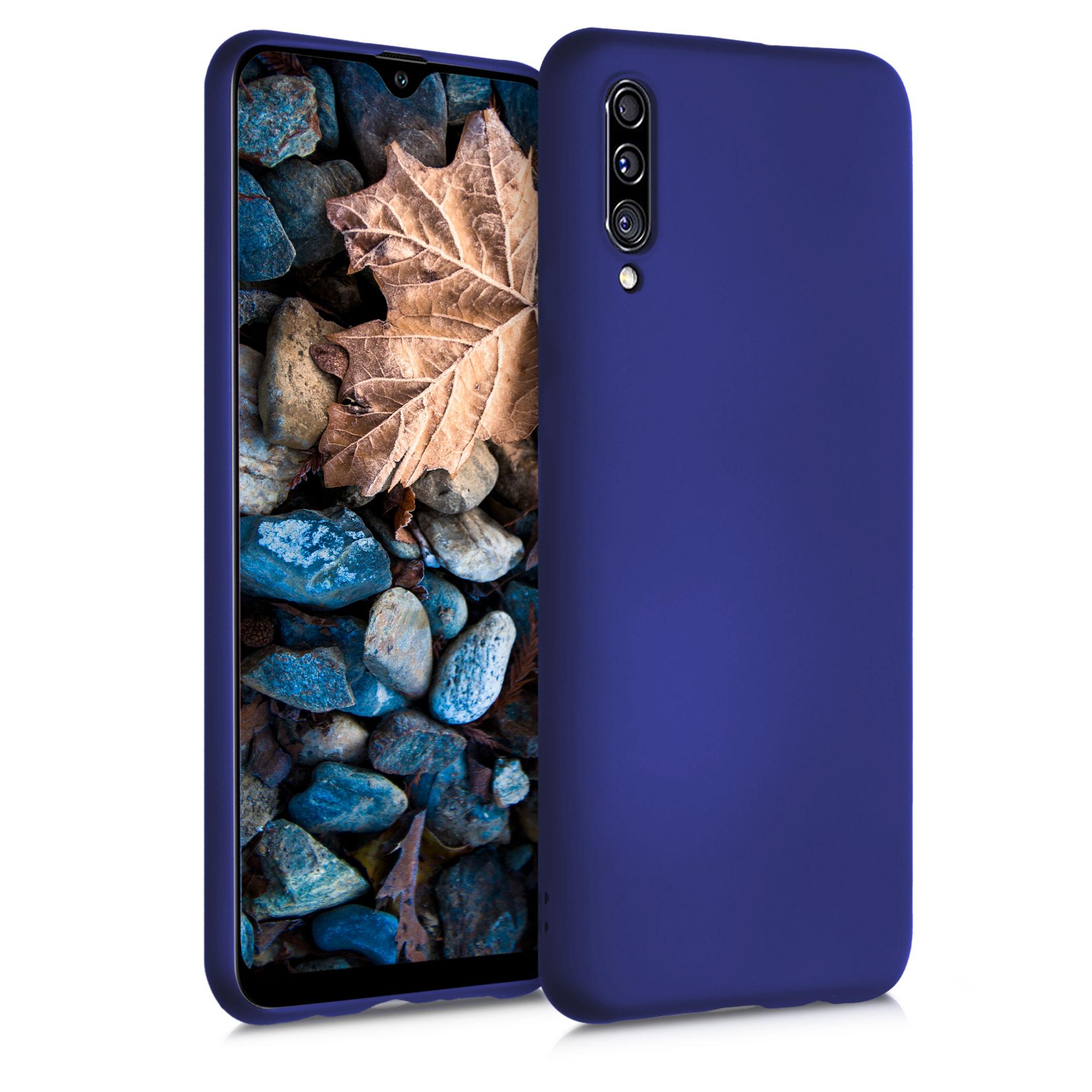 Kvalitní silikonové TPU pouzdro pro Samsung A30s - modrá metalíza