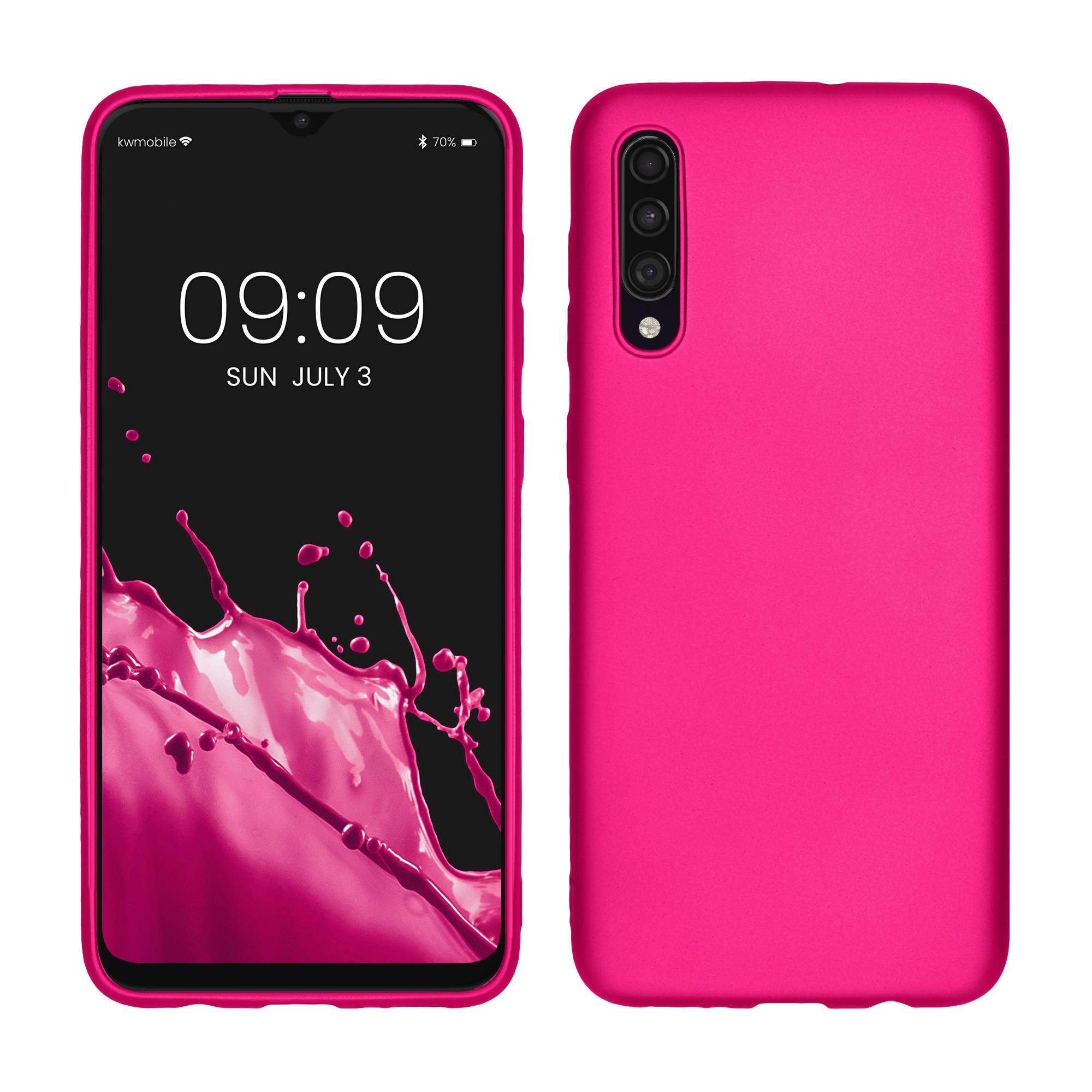 Kvalitní silikonové TPU pouzdro pro Samsung A30s - metalické růžové