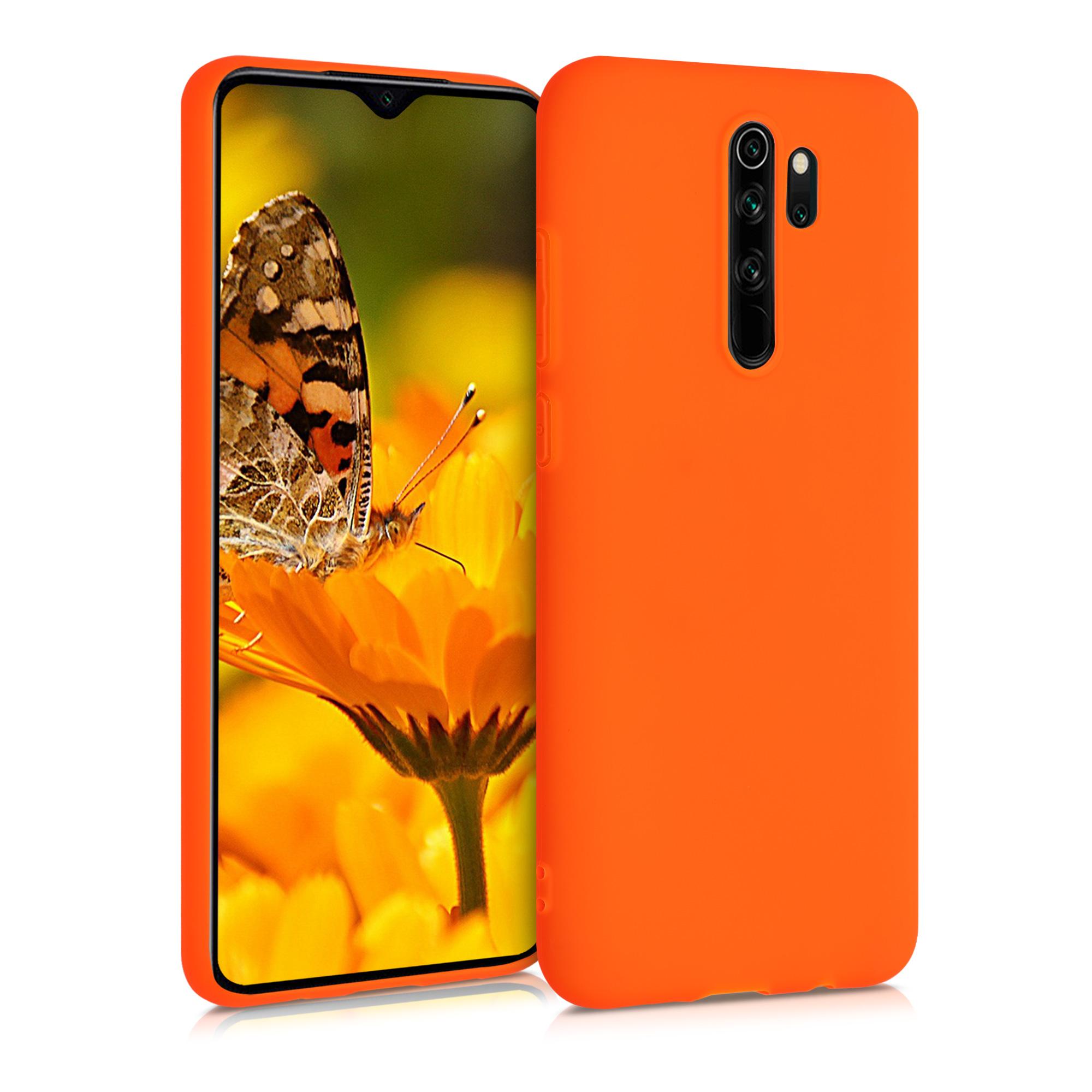 Kvalitní silikonové TPU pouzdro | obal pro Xiaomi Redmi Note 8 Pro - Neon Orange