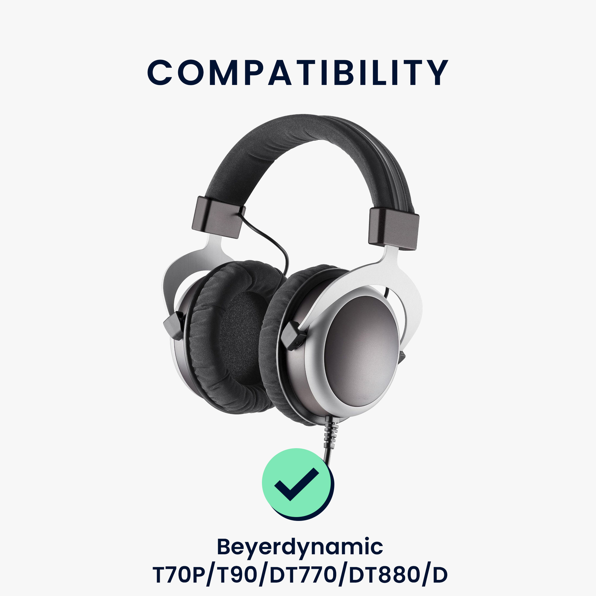PU Leather Replacement Ear Pads for Over-Ear Headphones Black kwmobile 2X Earpads for Sony MDR-V700 DJ//V500 DJ//Z700 DJ//XD900
