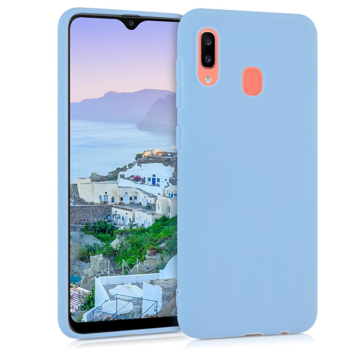 Kvalitní silikonové TPU pouzdro pro Samsung A20 - Dove modré