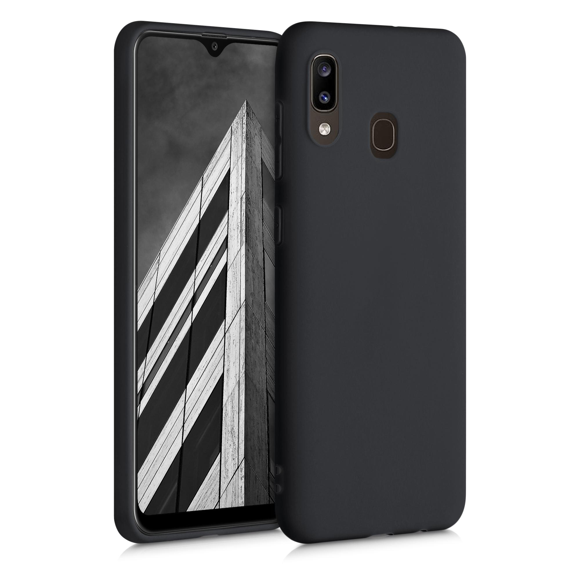 Kvalitní silikonové TPU pouzdro pro Samsung A20 - Black Matte