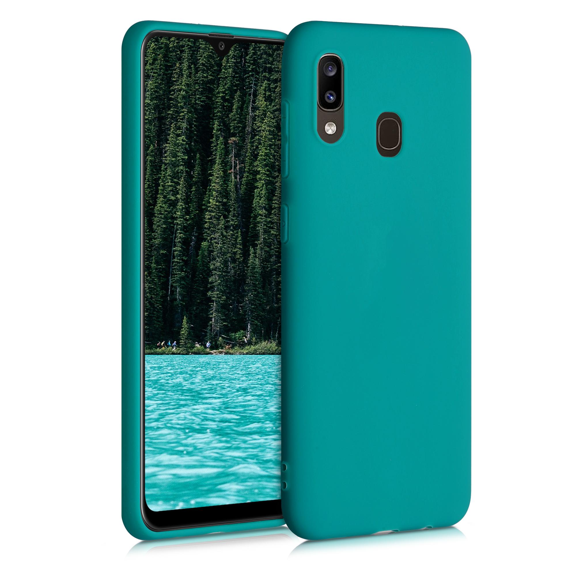 Kvalitní silikonové TPU pouzdro pro Samsung A20 - Teal Matte