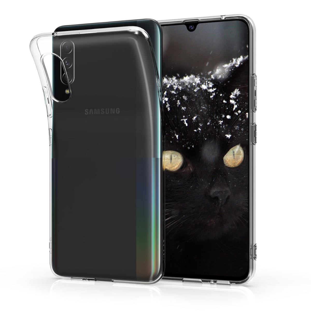 Kvalitní silikonové TPU pouzdro pro Samsung A90 (5G) - průhledné