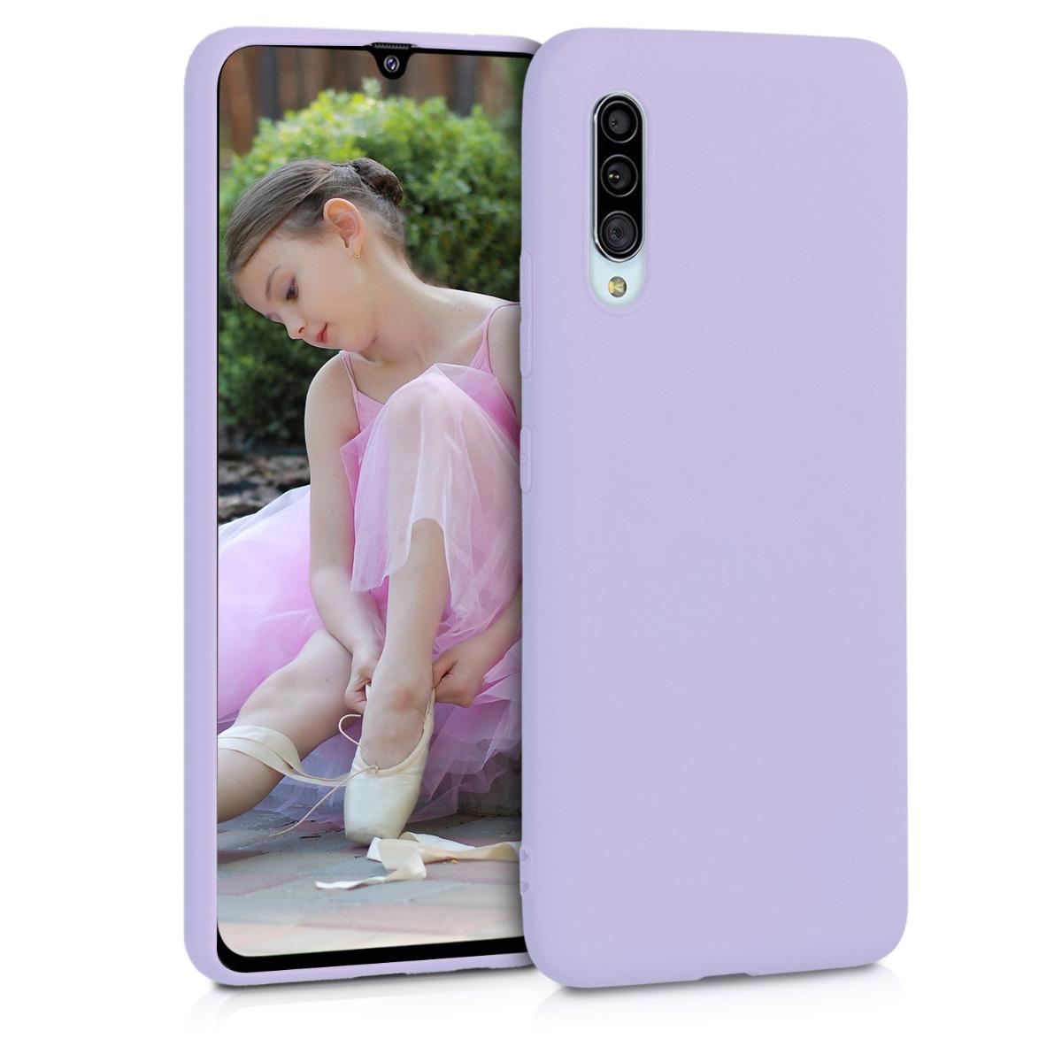 Kvalitní silikonové TPU pouzdro pro Samsung A90 (5G) - levandulové fialové