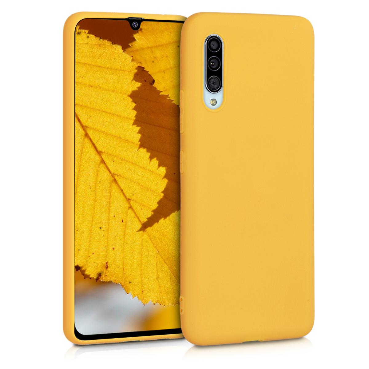 Kvalitní silikonové TPU pouzdro pro Samsung A90 (5G) - medově žluté