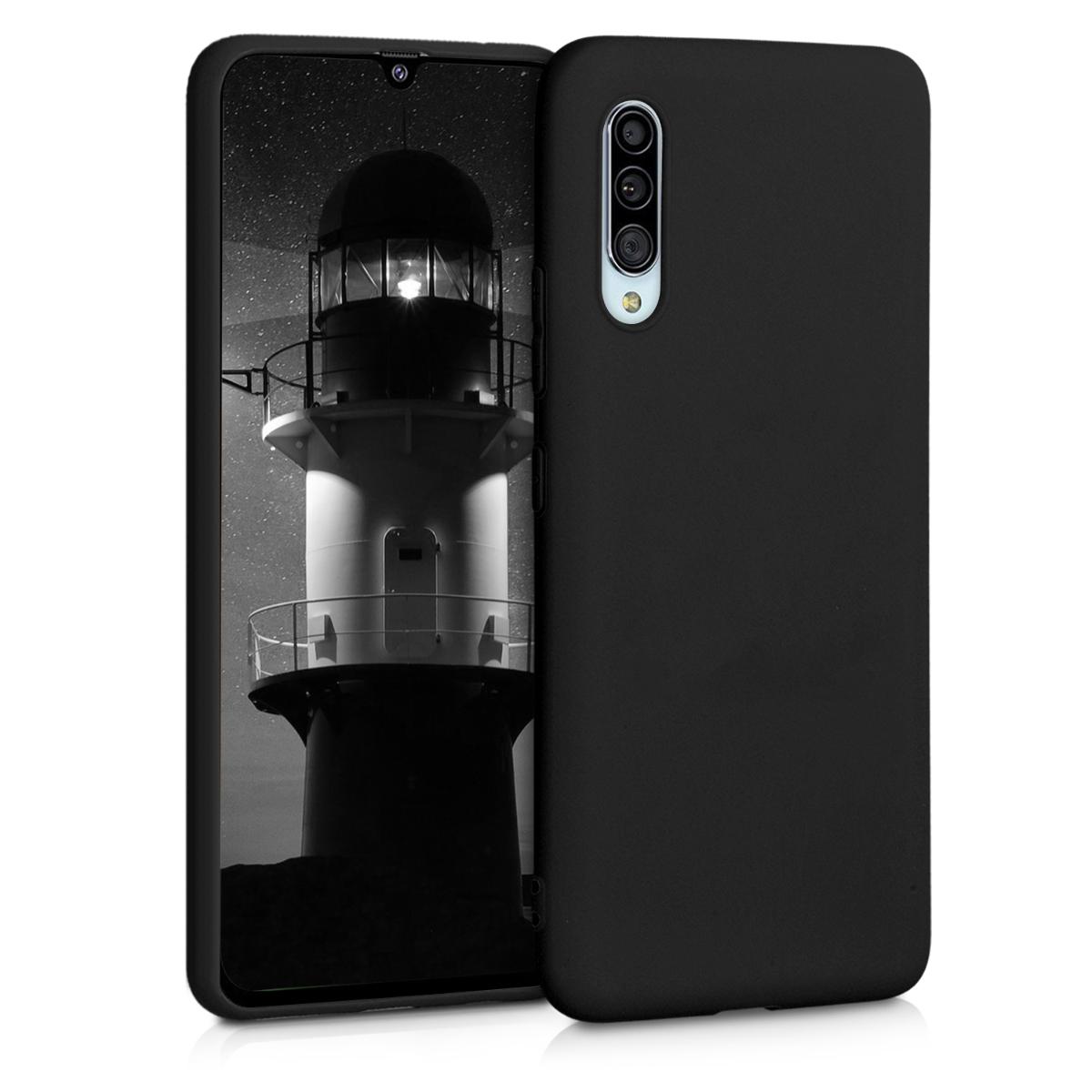 Kvalitní silikonové TPU pouzdro pro Samsung A90 (5G) - černé matné