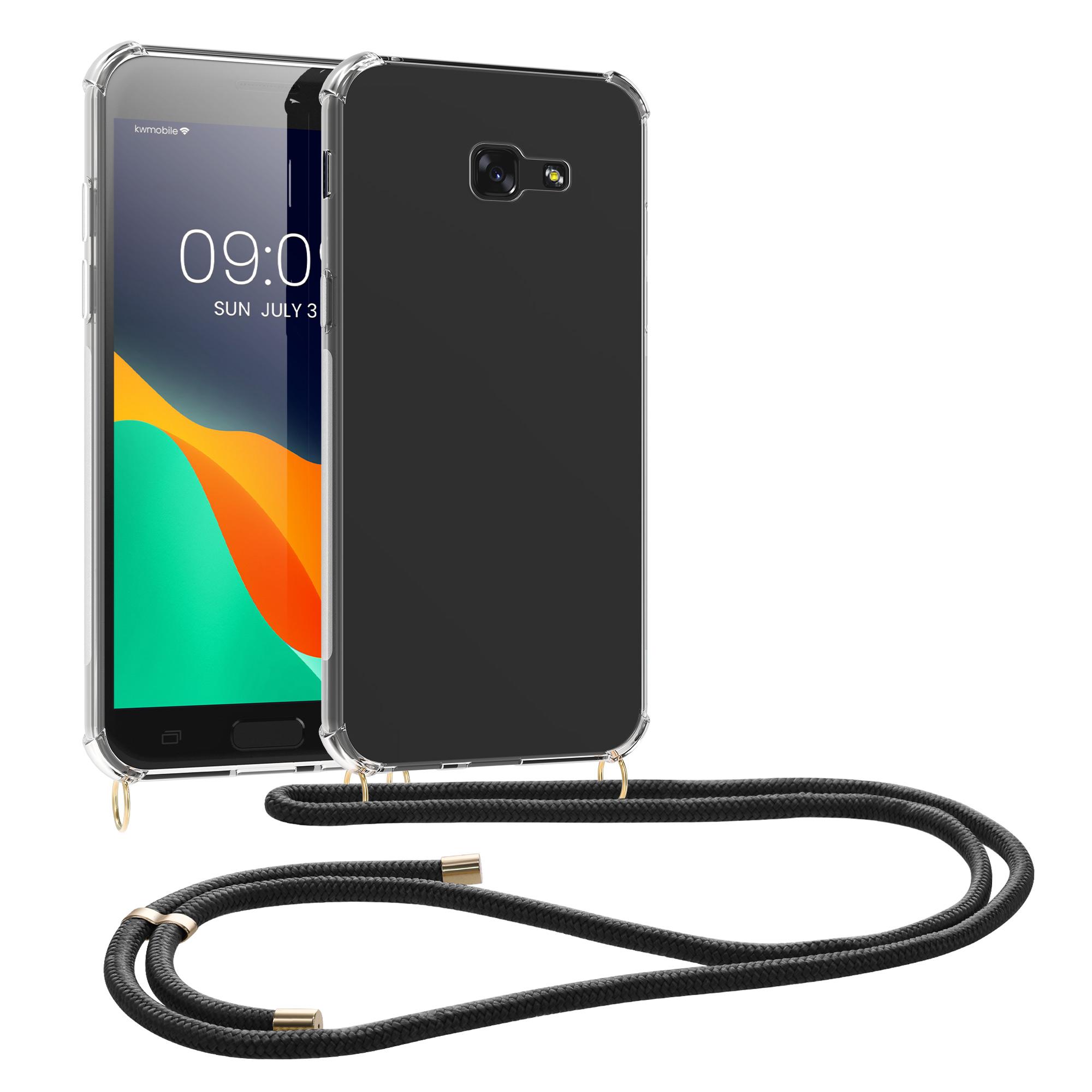 Kvalitní silikonové TPU pouzdro pro Samsung A5 (2017) - černé / transparentní