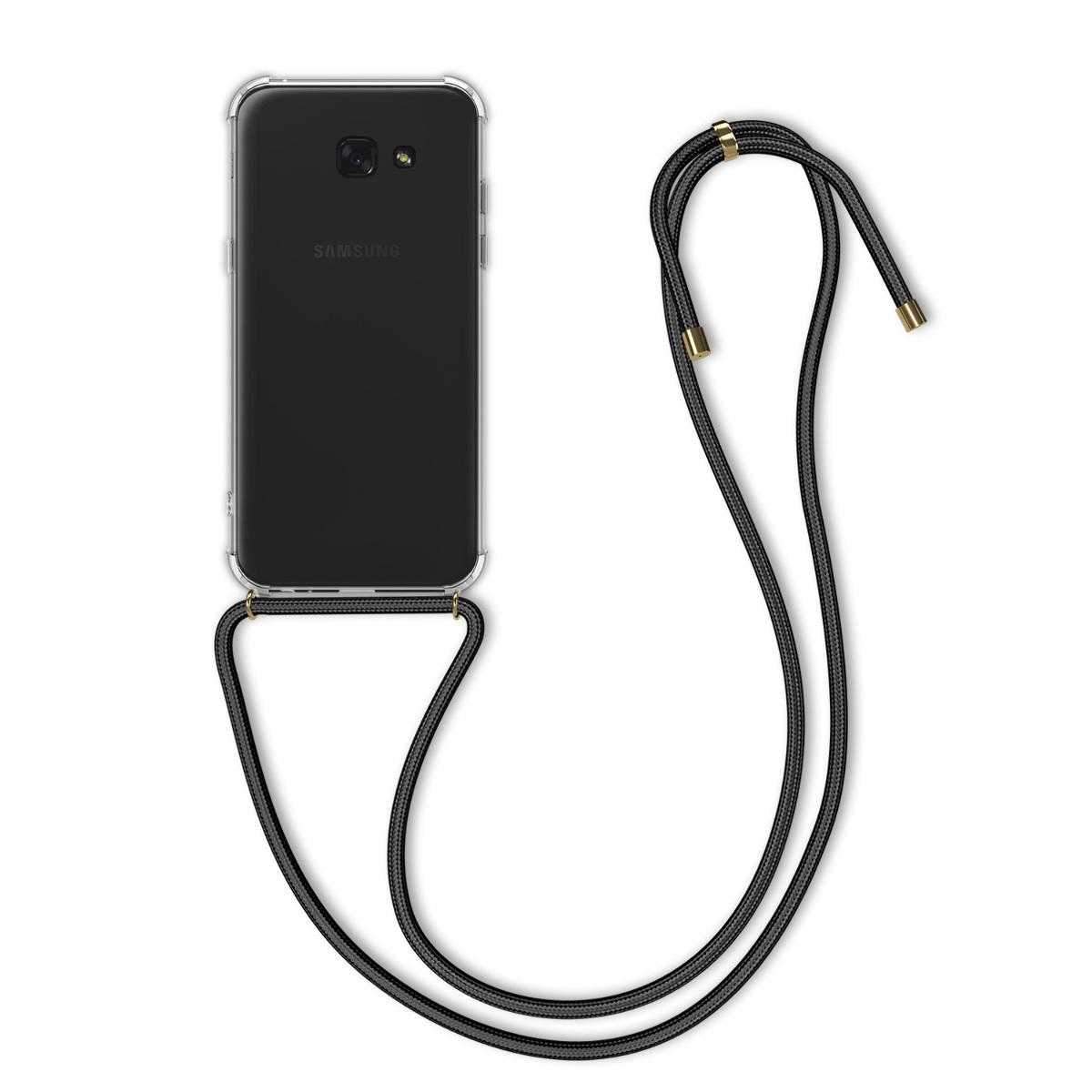Kvalitní silikonové TPU pouzdro pro Samsung A3 (2017) - černé / transparentní