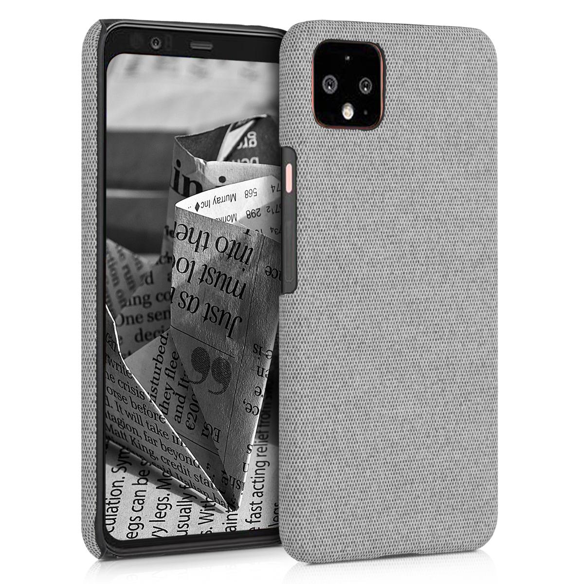 Textilní látkové pouzdro | obal pro Google Pixel 4 XL - Světle šedá