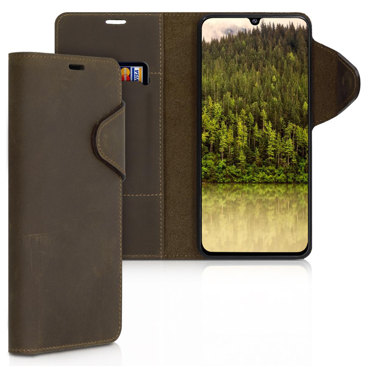 Kožené pouzdro pro Samsung A90 (5G) - hnědé