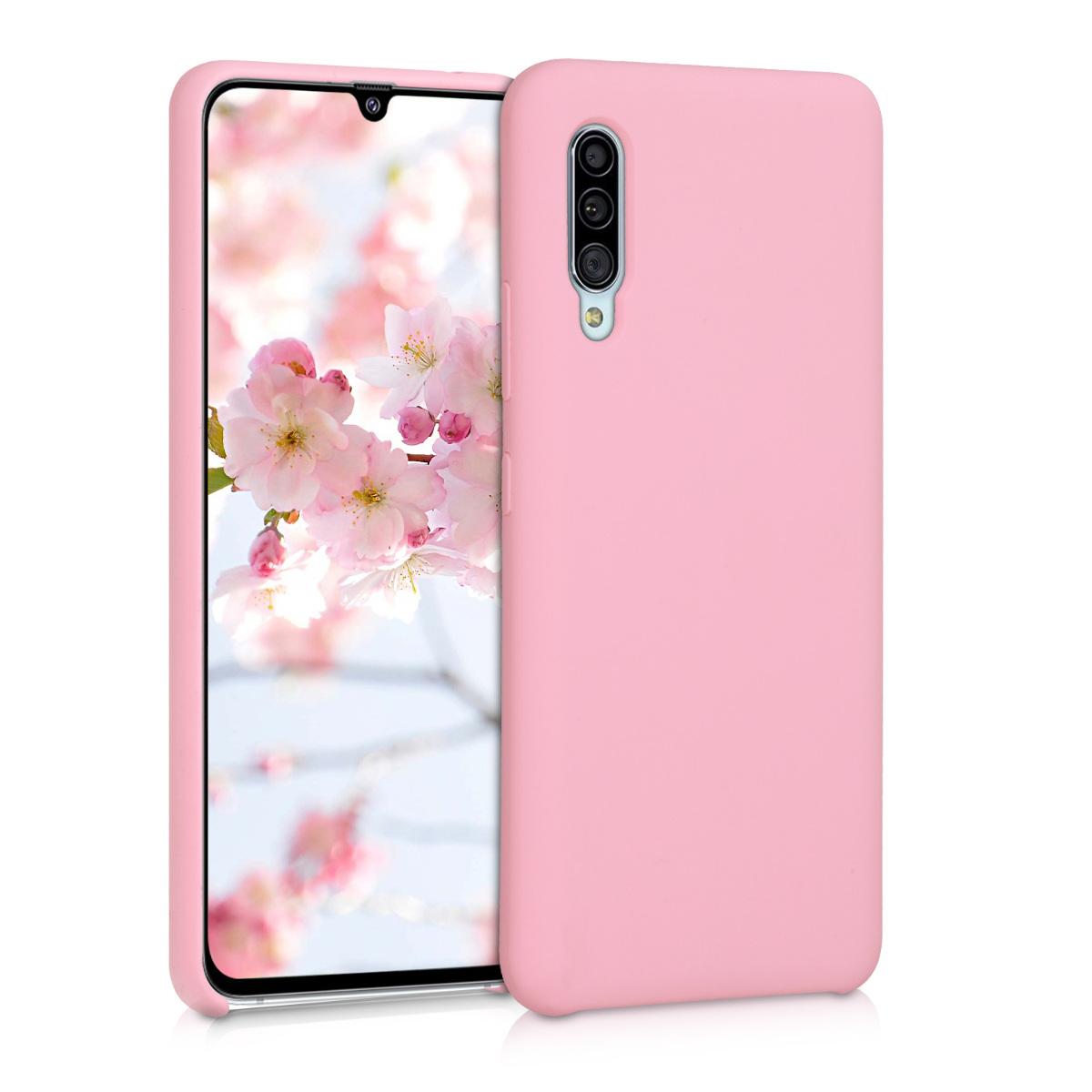 Kvalitní silikonové TPU pouzdro pro Samsung A90 (5G) - světle růžové matné
