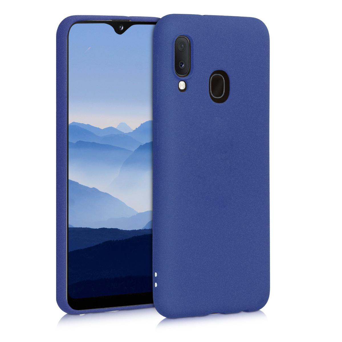 Kvalitní silikonové TPU pouzdro pro Samsung A20e - tmavě modré