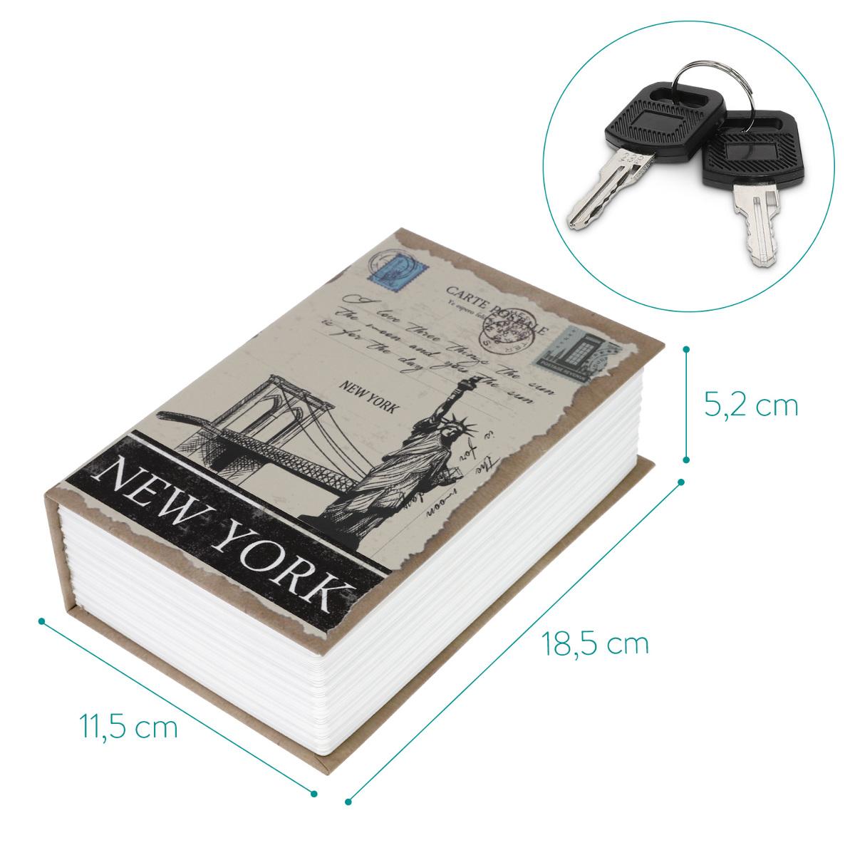 Buchtresor Versteck 2x Schlüssel Buchsafe Attrappe Geheimfach Buch Geldversteck