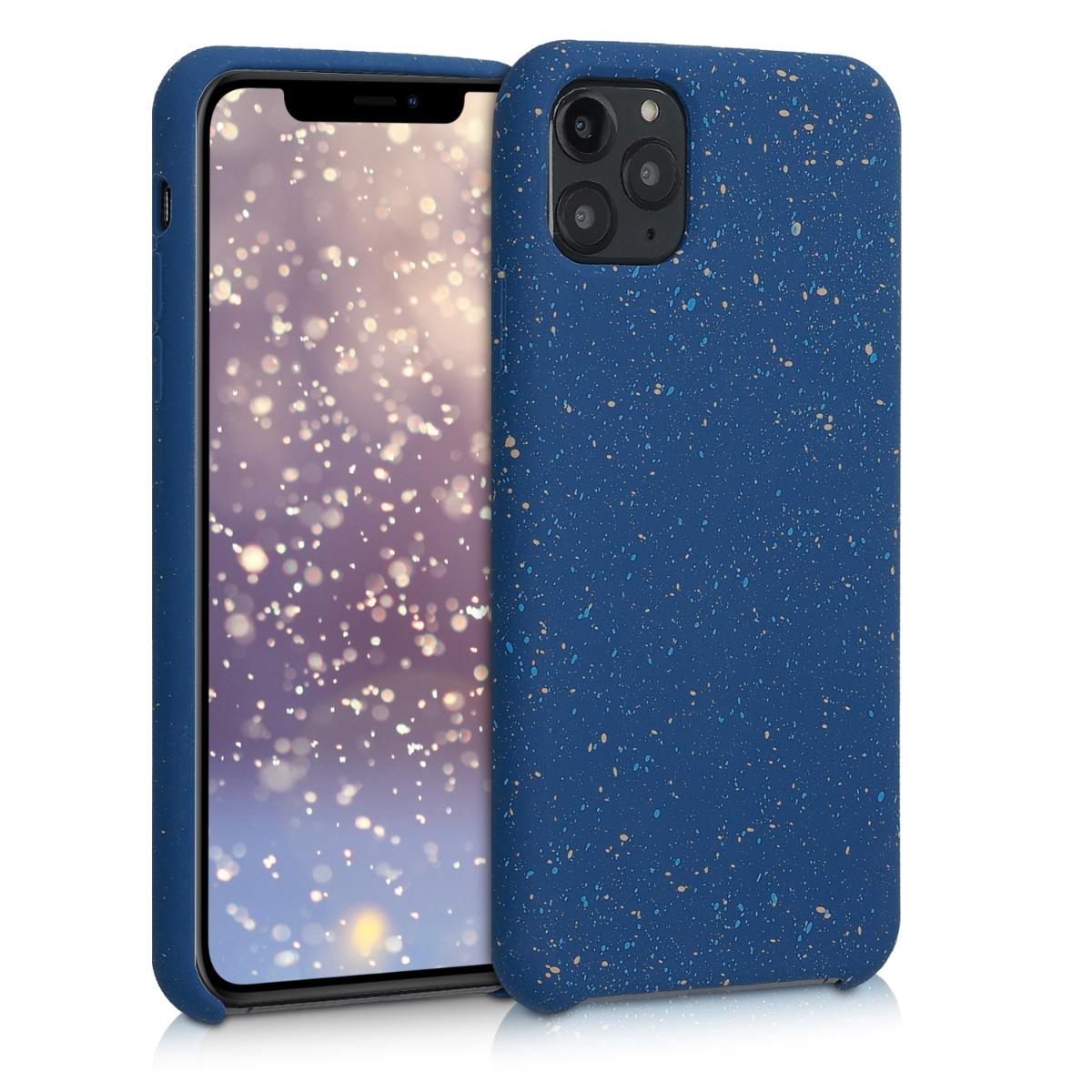 Kvalitní silikonové TPU pouzdro pro Apple iPhone 11 Pro Max - Paint Splatter bílá | modrá | tmavě modrý