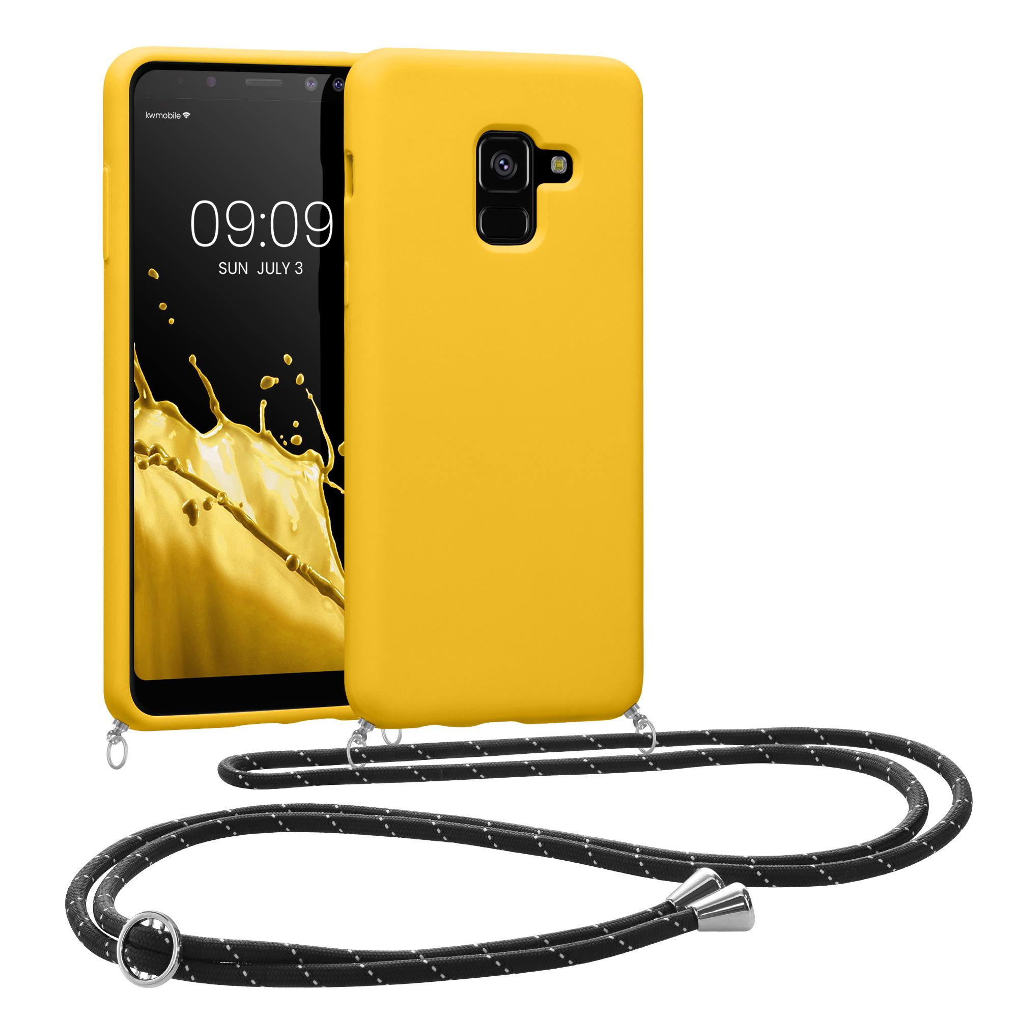 AKCE IHNED! Kvalitní silikonové TPU pouzdro pro Samsung A8 (2018) - medově žluté