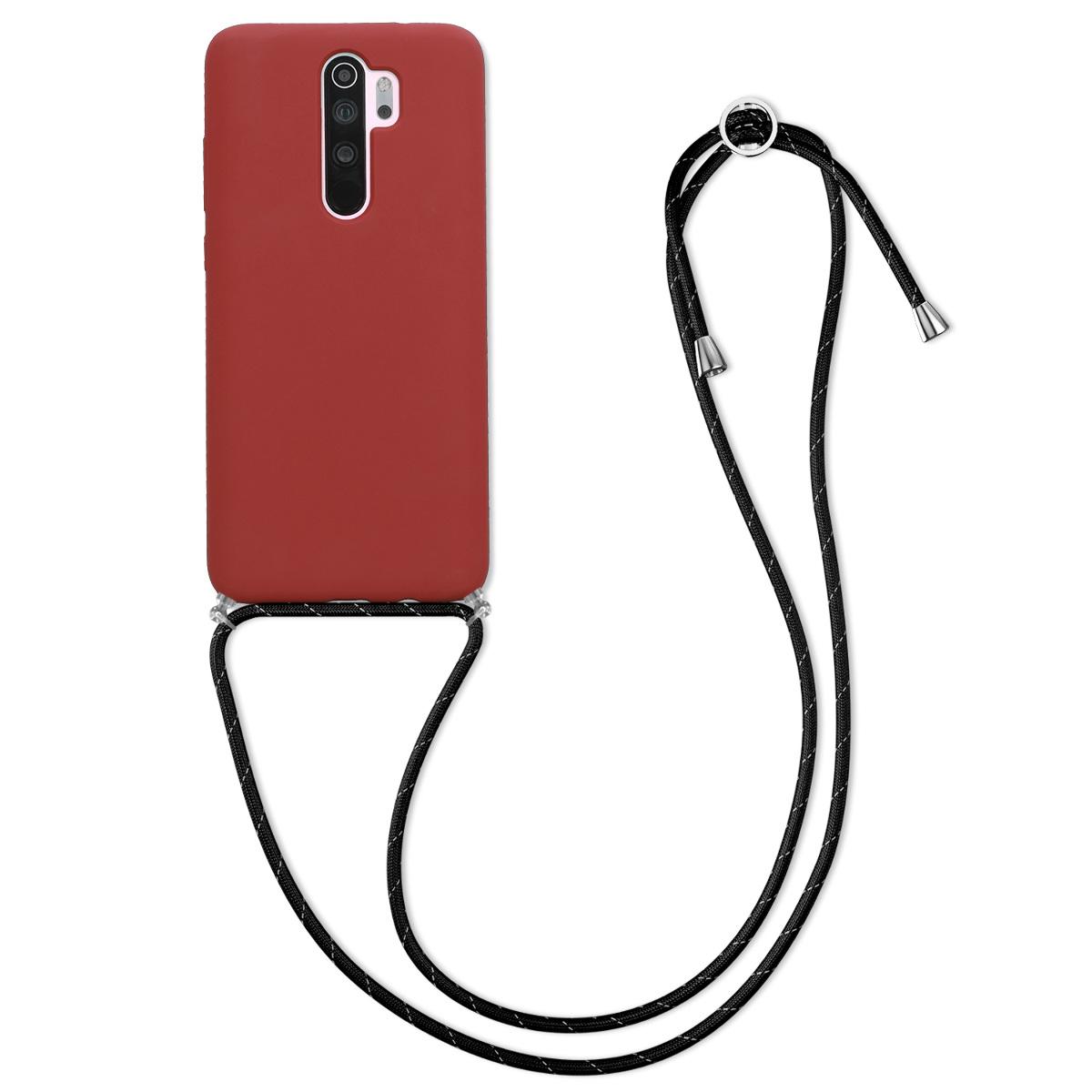 Kvalitní silikonové TPU pouzdro | obal pro Xiaomi Redmi Note 8 Pro - tmavě červený / černý