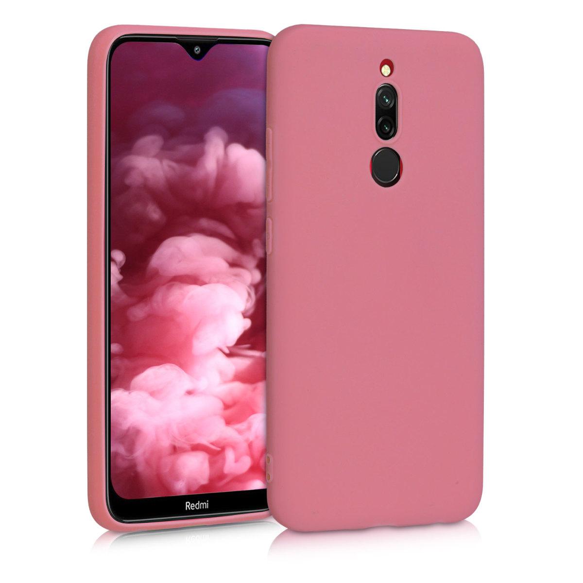 Kvalitní silikonové TPU pouzdro | obal pro Xiaomi Redmi 8 - Hluboké Rusty růžový