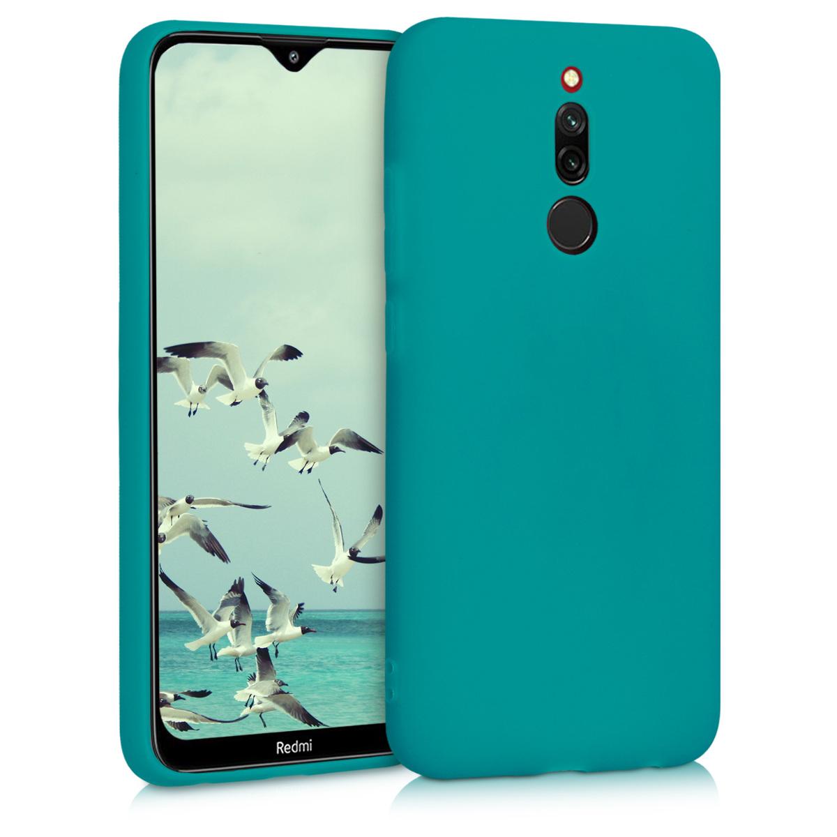 Kvalitní silikonové TPU pouzdro | obal pro Xiaomi Redmi 8 - tyrkysové matný