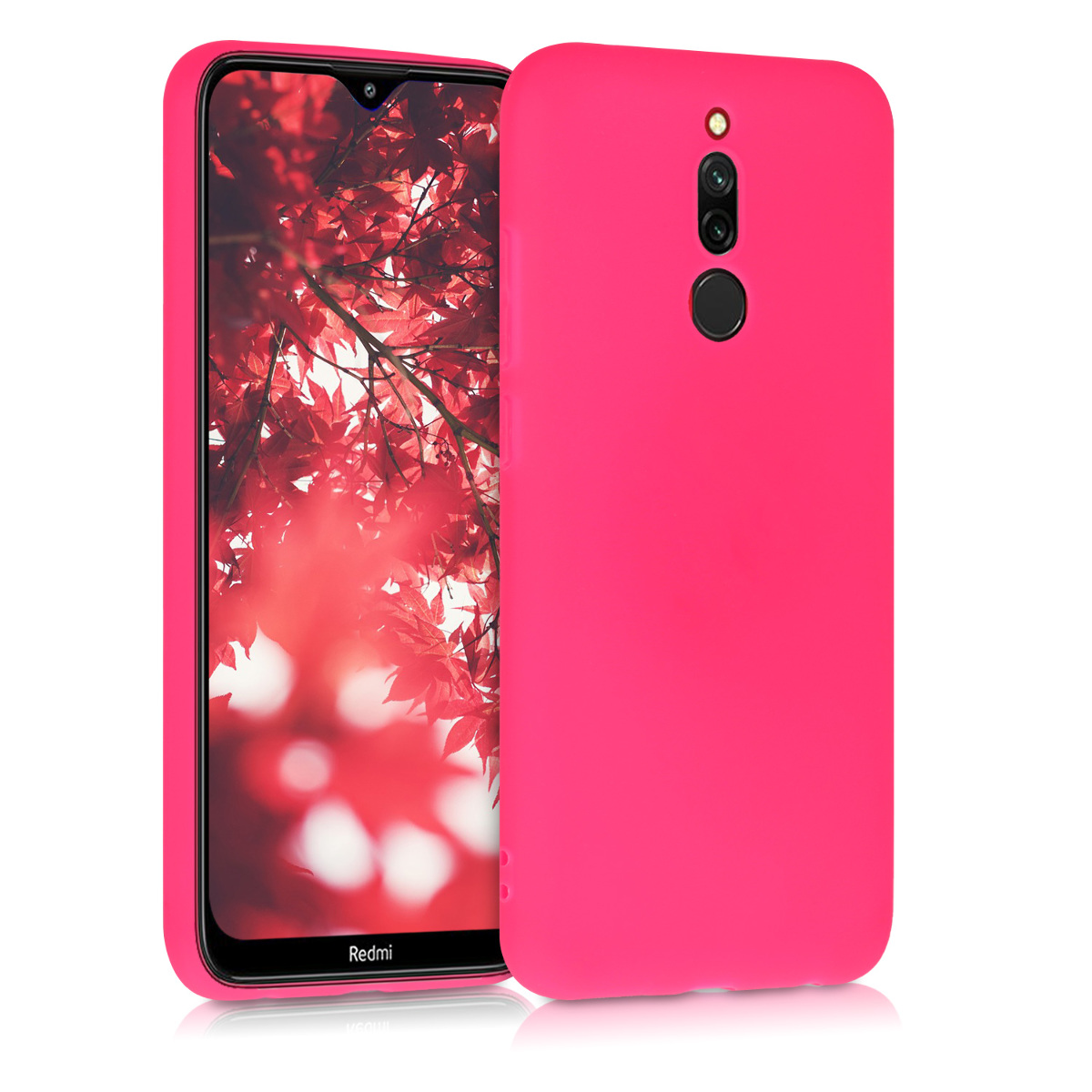 Kvalitní silikonové TPU pouzdro | obal pro Xiaomi Redmi 8 - Neon růžový