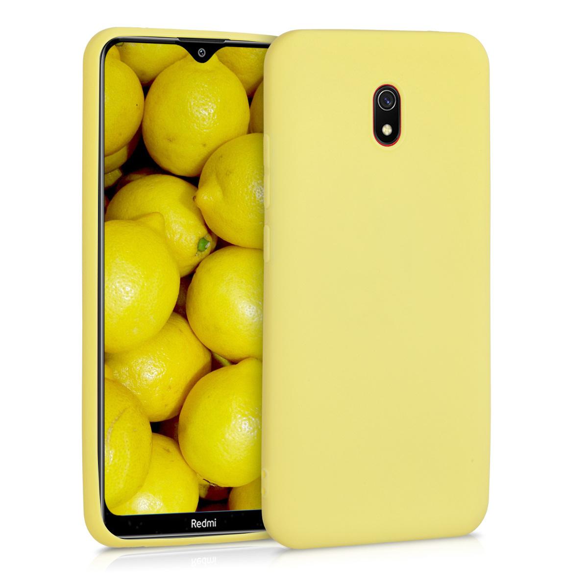 Kvalitní silikonové TPU pouzdro | obal pro Xiaomi Redmi 8A - žluté matný