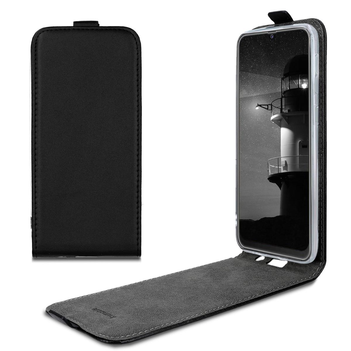 Kožené pouzdro pro Samsung M30s - černé