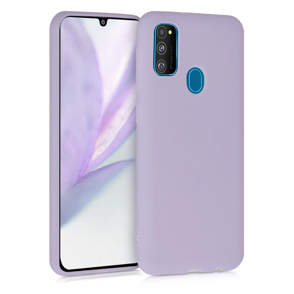 Kvalitní silikonové TPU pouzdro pro Samsung M30s - levandulové fialové