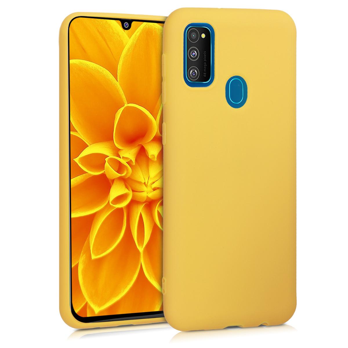 Kvalitní silikonové TPU pouzdro pro Samsung M30s - medově žluté