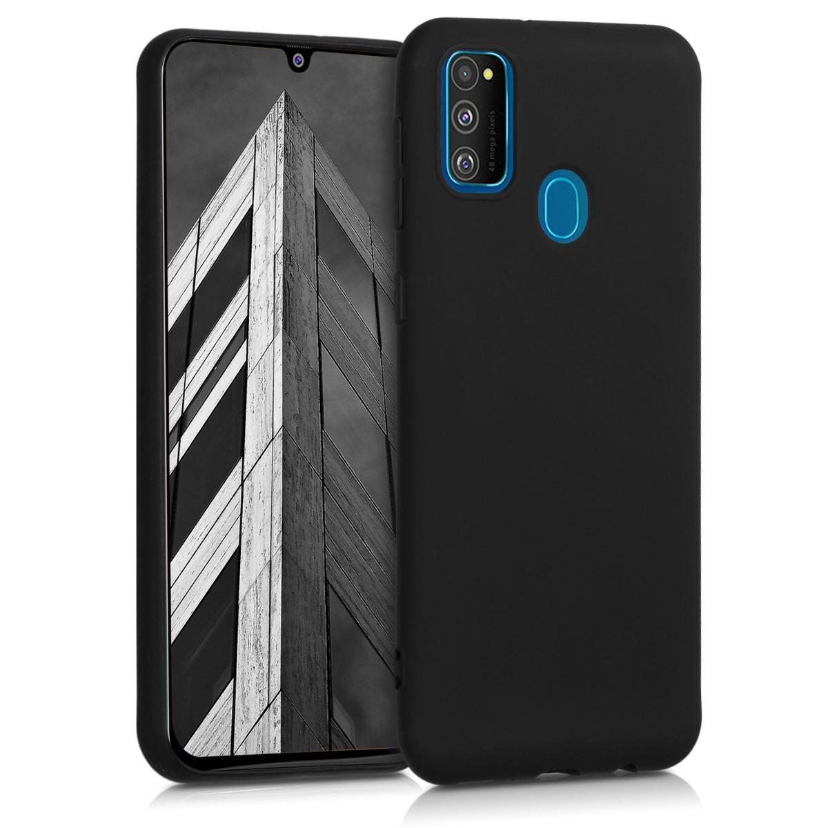 Kvalitní silikonové TPU pouzdro pro Samsung M30s - černé matné