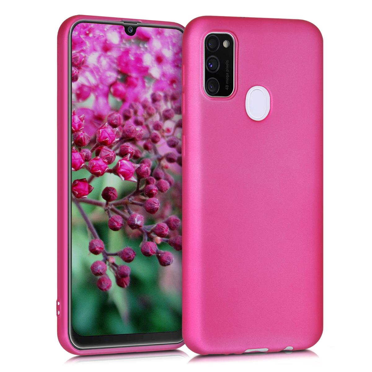 Kvalitní silikonové TPU pouzdro pro Samsung M30s - metalické růžové