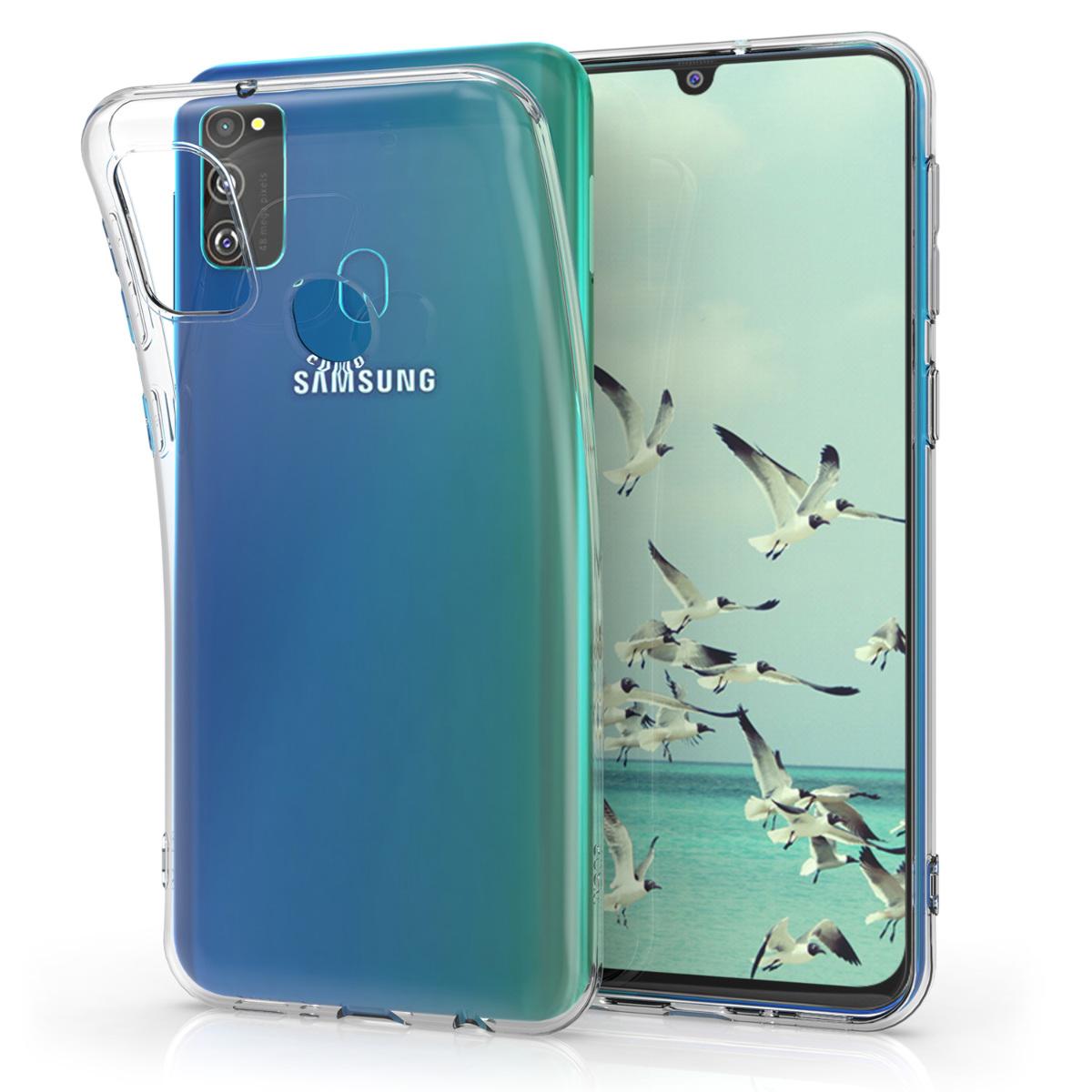 Kvalitní silikonové TPU pouzdro pro Samsung M30s - průhledné
