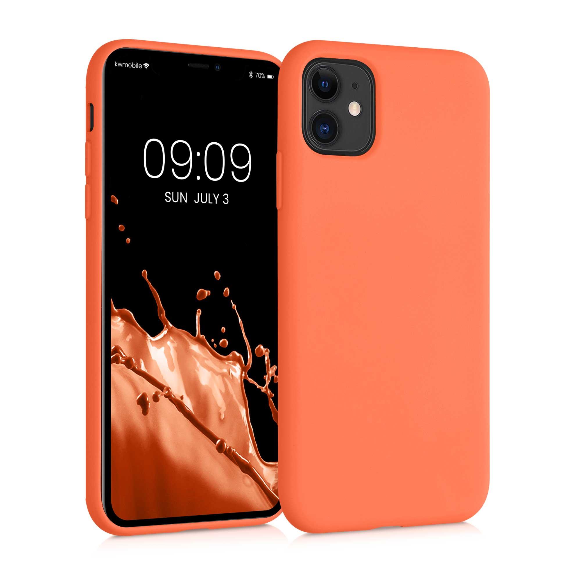 Kvalitní silikonové TPU pouzdro pro Apple iPhone 11 - Neon Coral