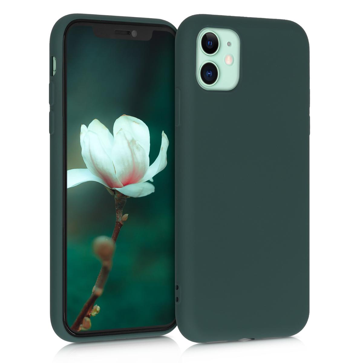 Kvalitní silikonové TPU pouzdro pro Apple iPhone 11 - Moss Green