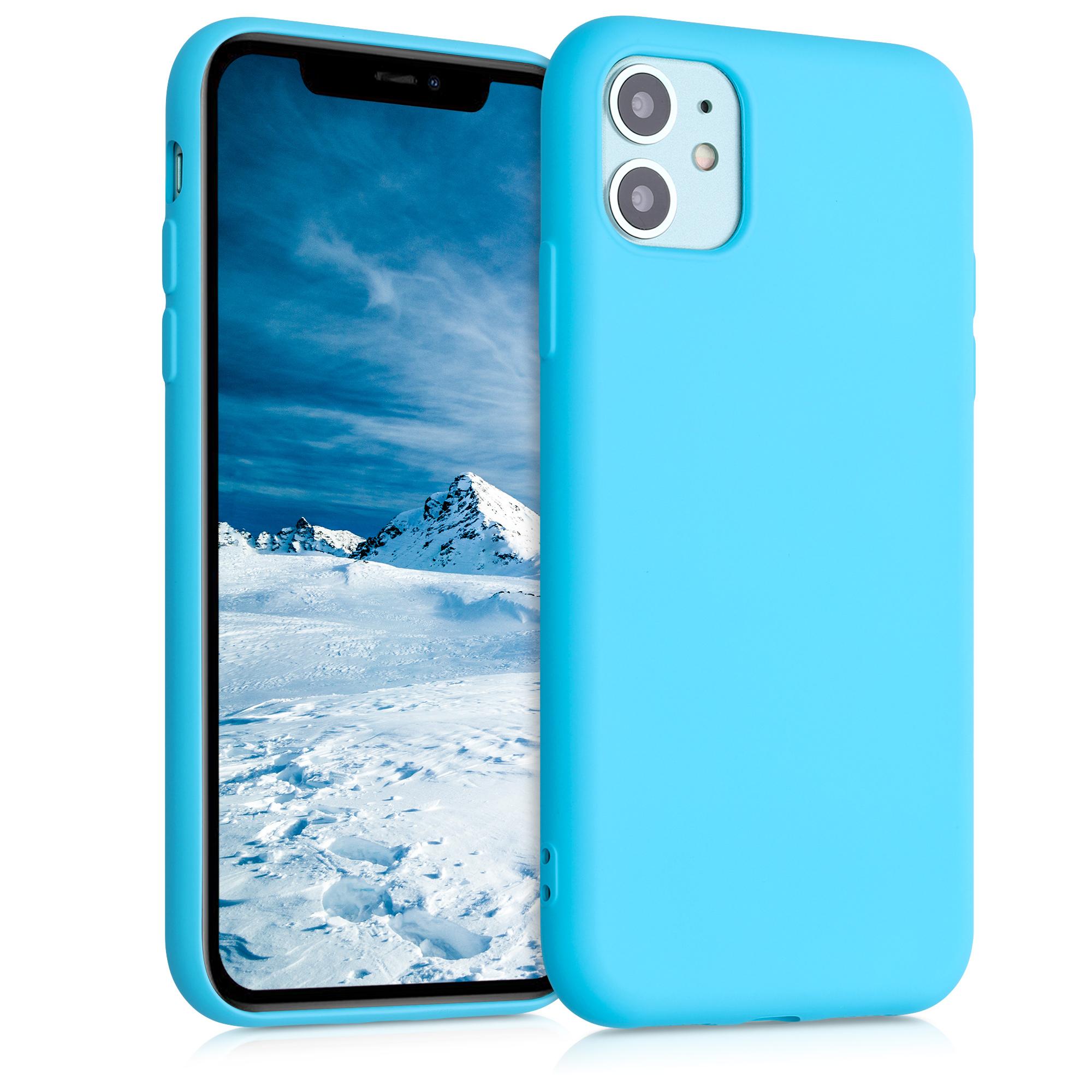 Kvalitní silikonové TPU pouzdro pro Apple iPhone 11 - Ledová modř