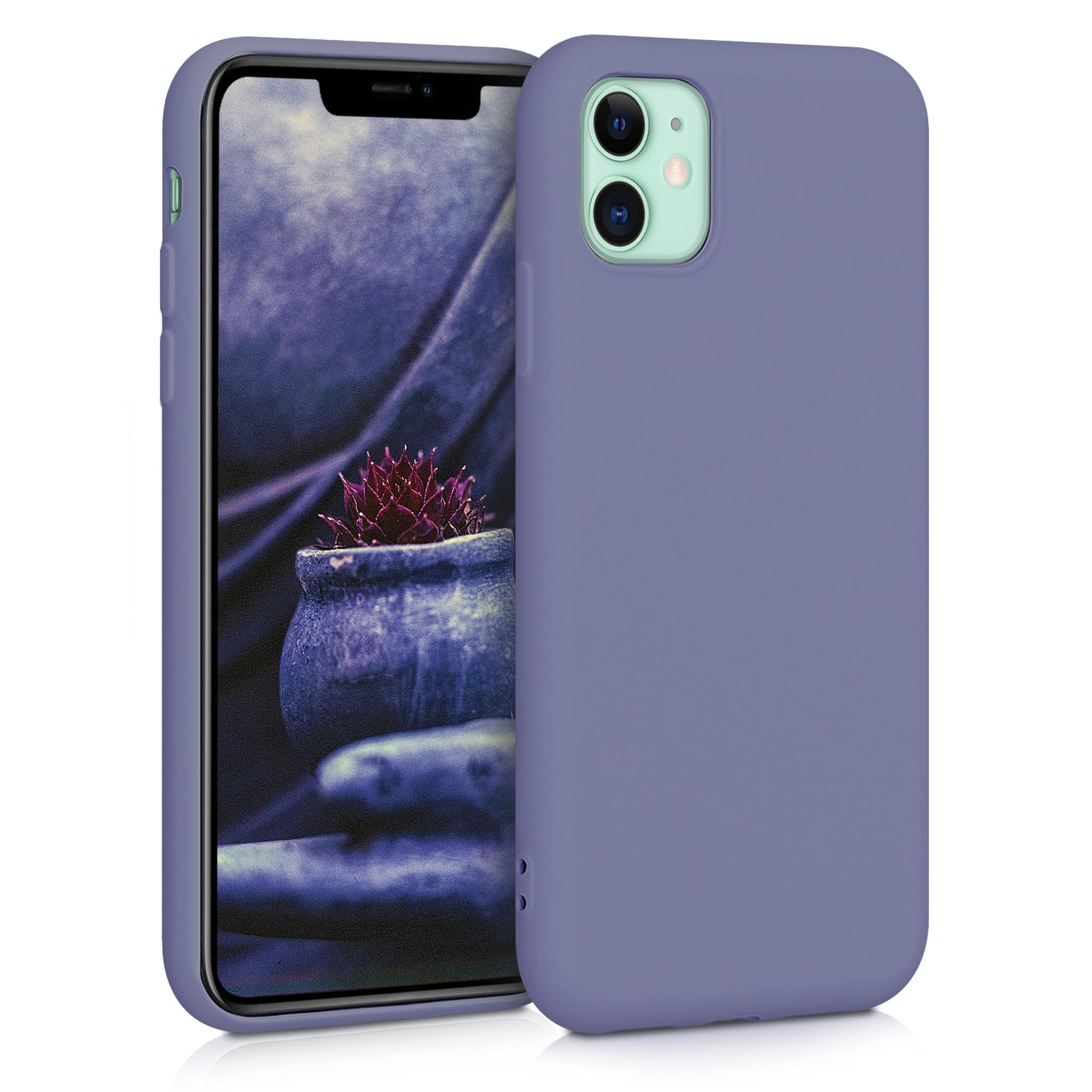 Kvalitní silikonové TPU pouzdro pro Apple iPhone 11 Pro - modrá Šedá