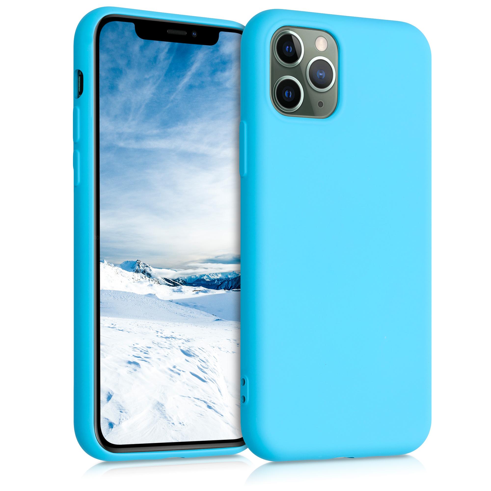 Kvalitní silikonové TPU pouzdro pro Apple iPhone 11 Pro - Ledová modř