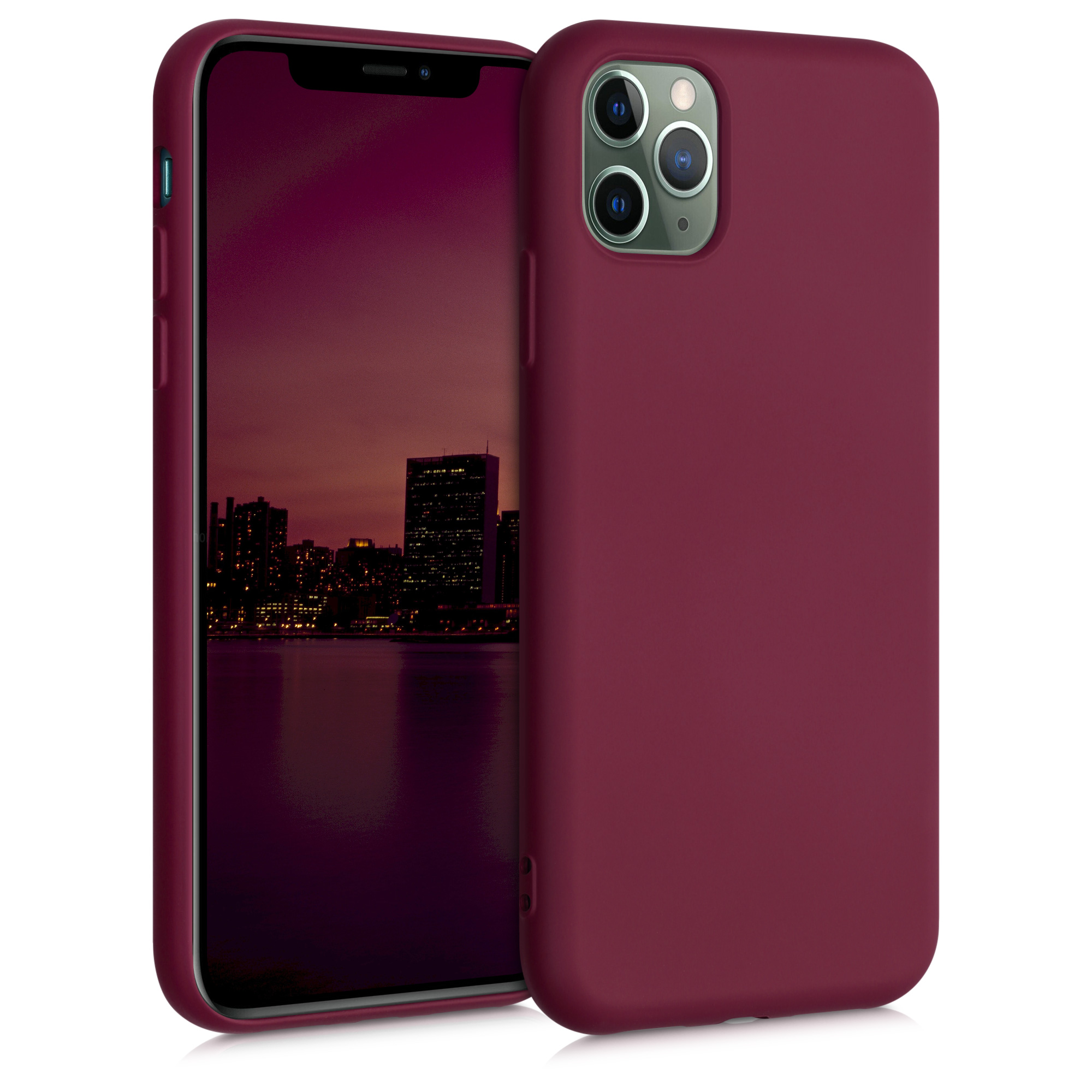 Kvalitní silikonové TPU pouzdro pro Apple iPhone 11 Pro - rebarbora Red