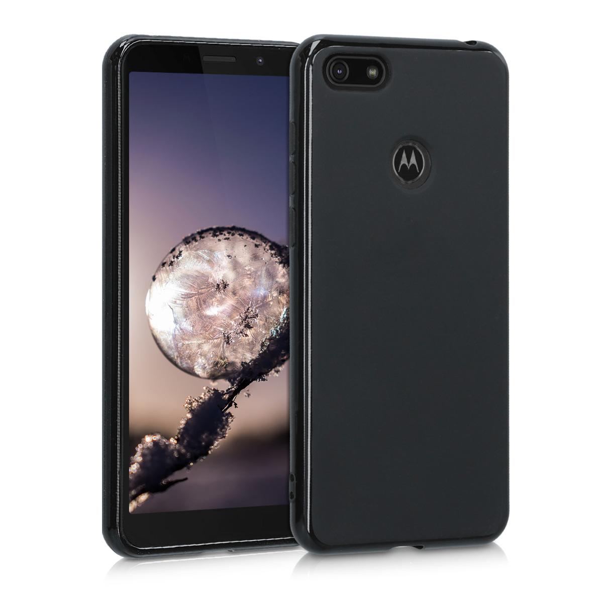 Kvalitní silikonové TPU pouzdro | obal pro Motorola Moto E6 Play - Černá matná