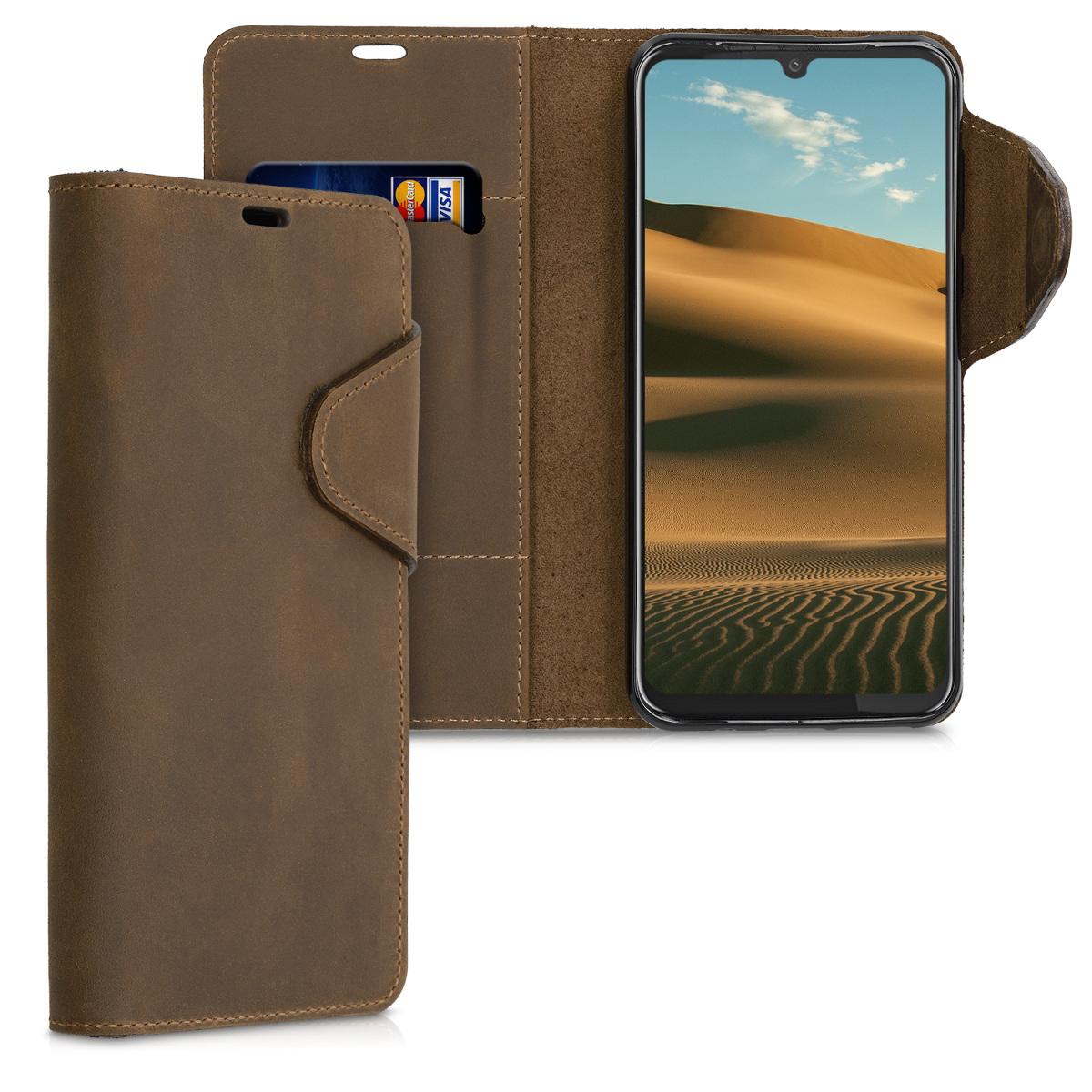 Kožené pouzdro | obal pro Motorola Moto G8 Plus - Hnědá