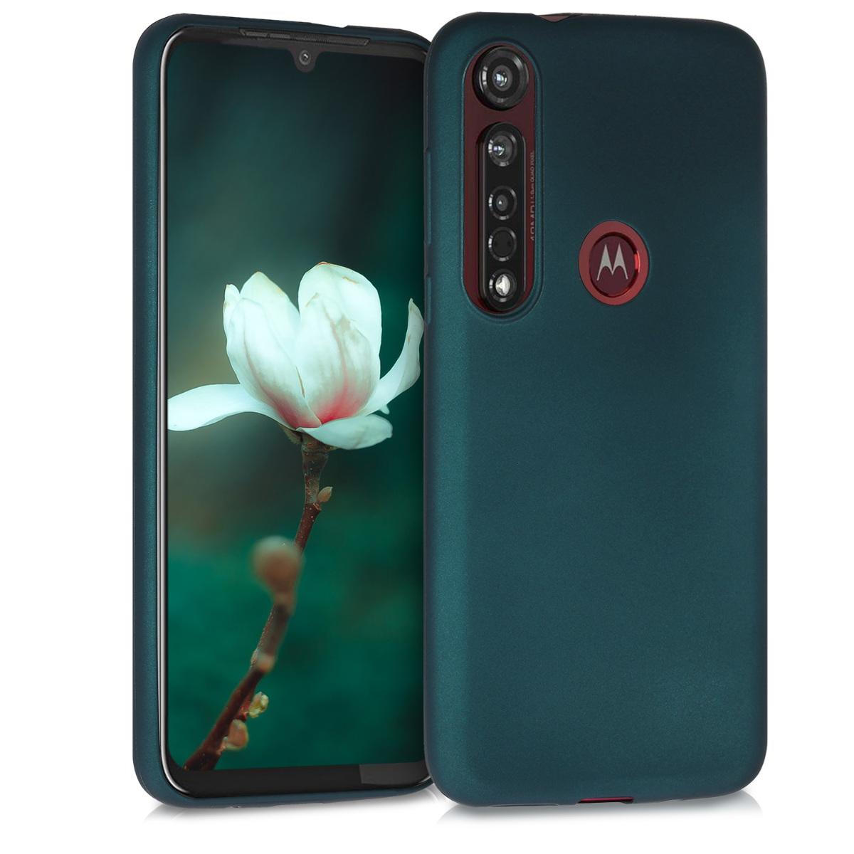 Kvalitní silikonové TPU pouzdro | obal pro Motorola Moto G8 Plus - Metalická tealová