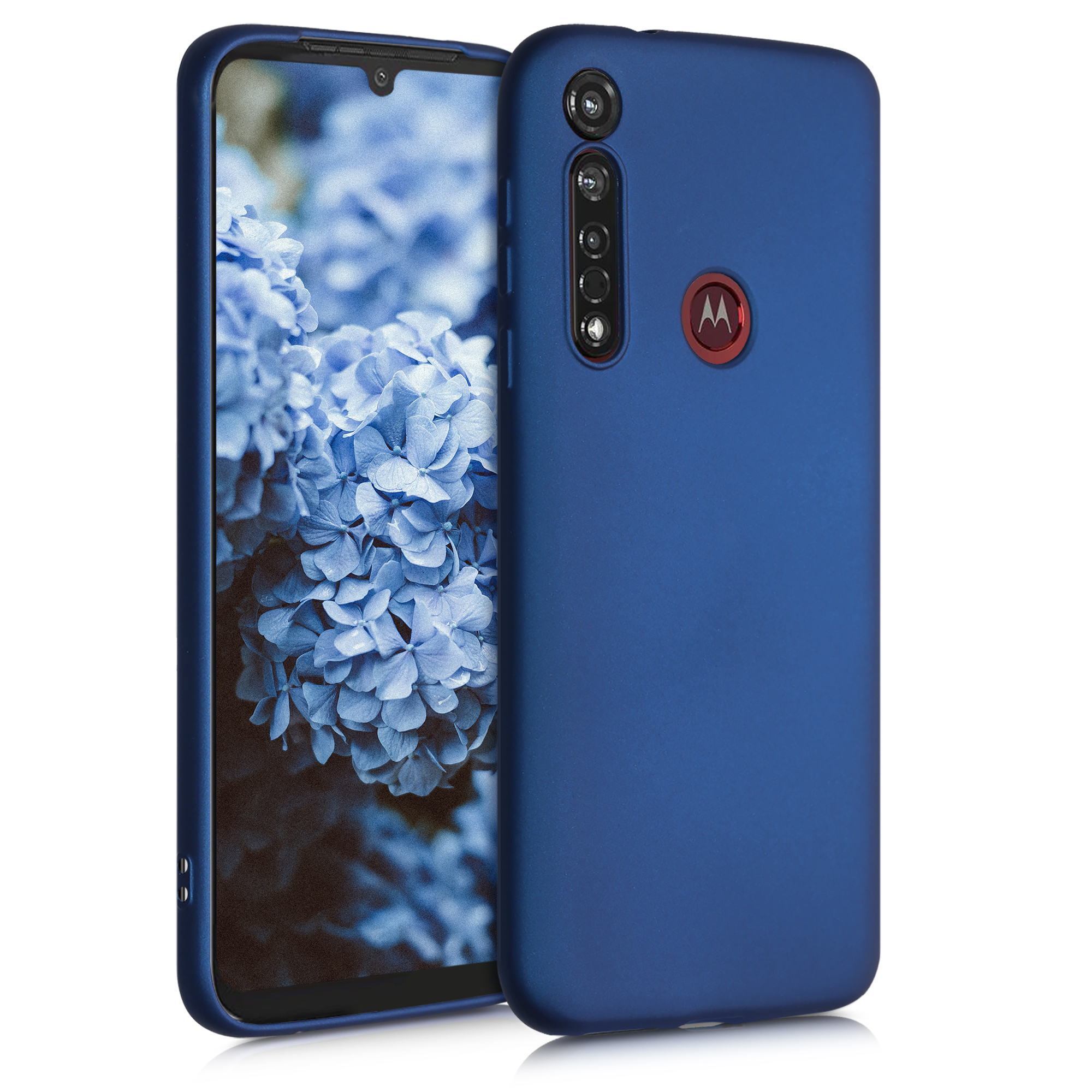 Kvalitní silikonové TPU pouzdro | obal pro Motorola Moto G8 Plus - Modrá metalíza