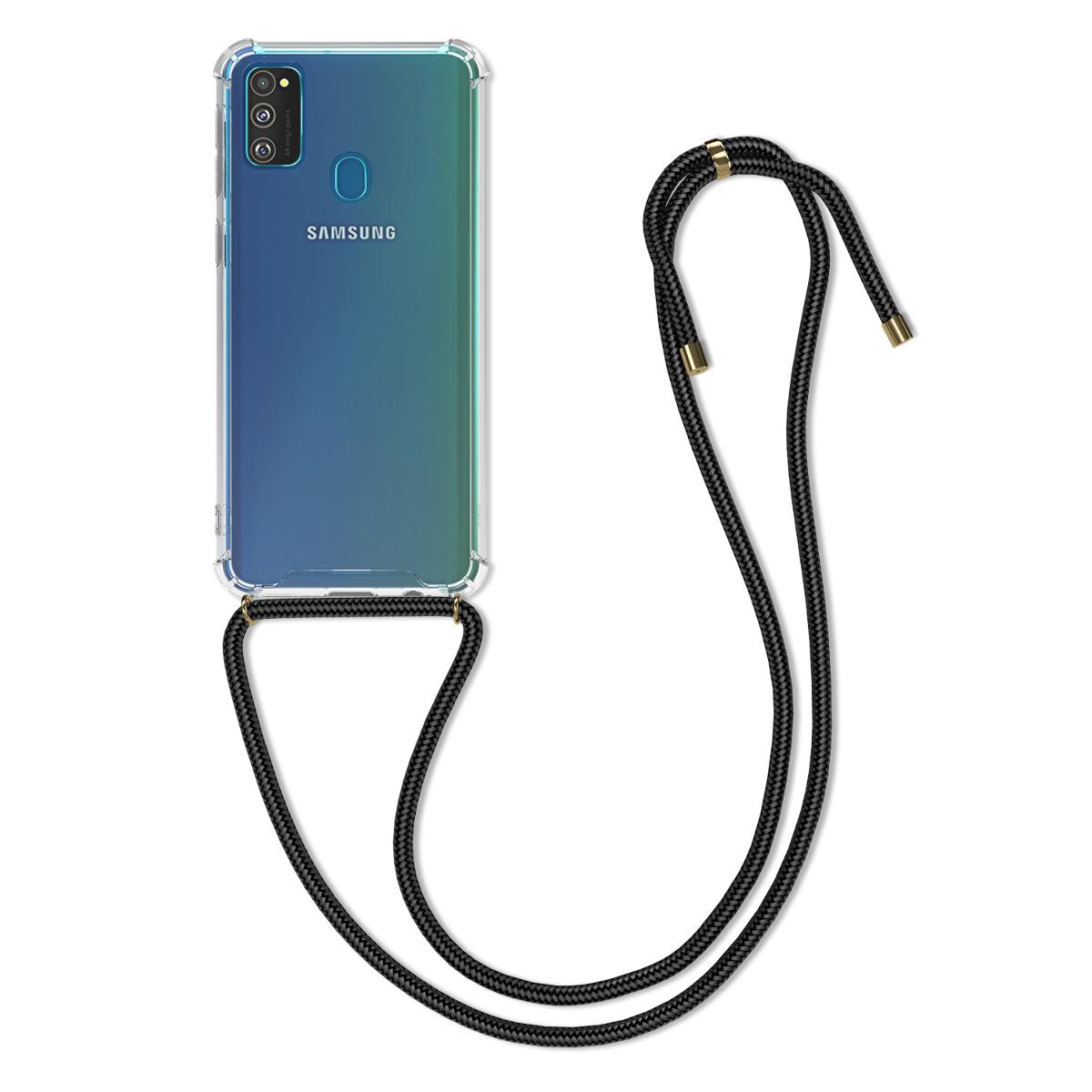 Kvalitní silikonové TPU pouzdro pro Samsung M30s - černé / transparentní