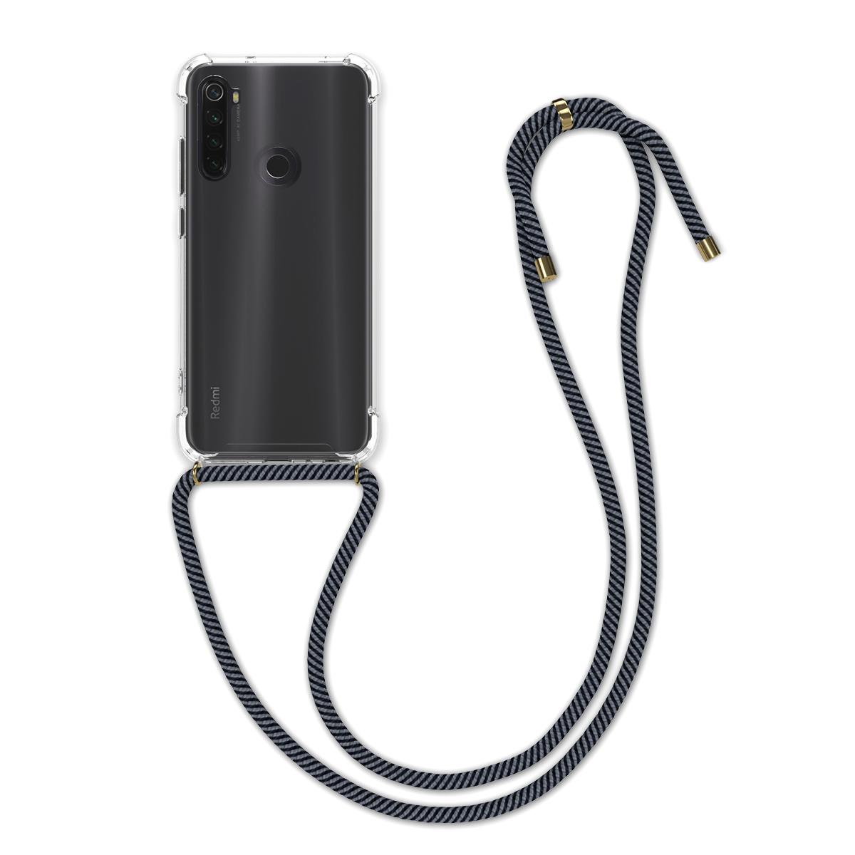 Kvalitní silikonové TPU pouzdro | obal pro Xiaomi Redmi Note 8T - Anthracite / černý / transparentní
