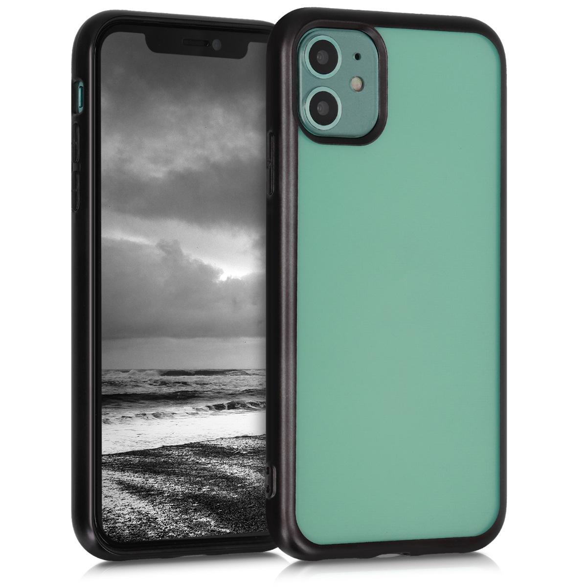 Kvalitní silikonové TPU pouzdro pro Apple iPhone 11 - Black | Matte Transparent