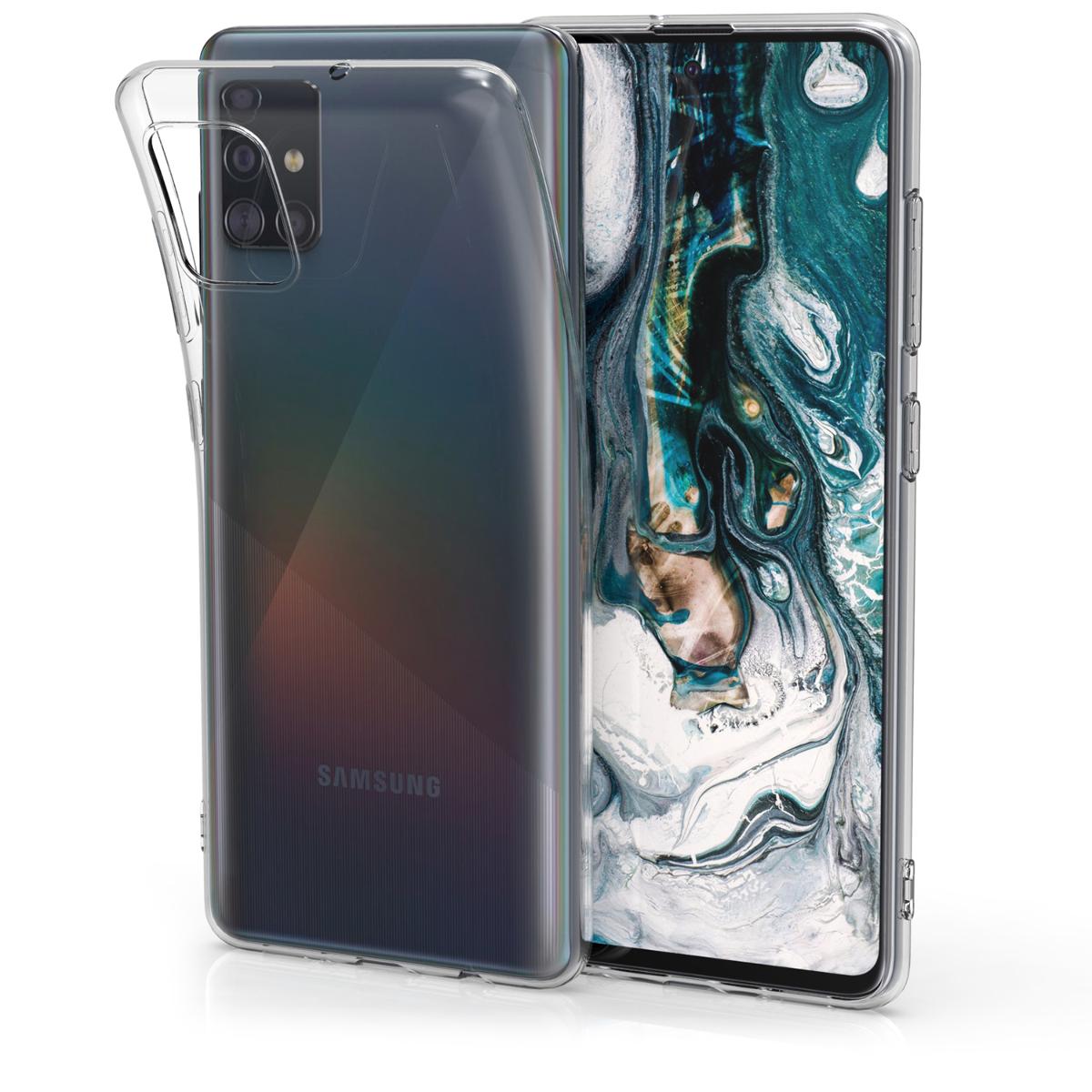Průhledné silikonové pouzdro / obal pro Samsung Galaxy A51