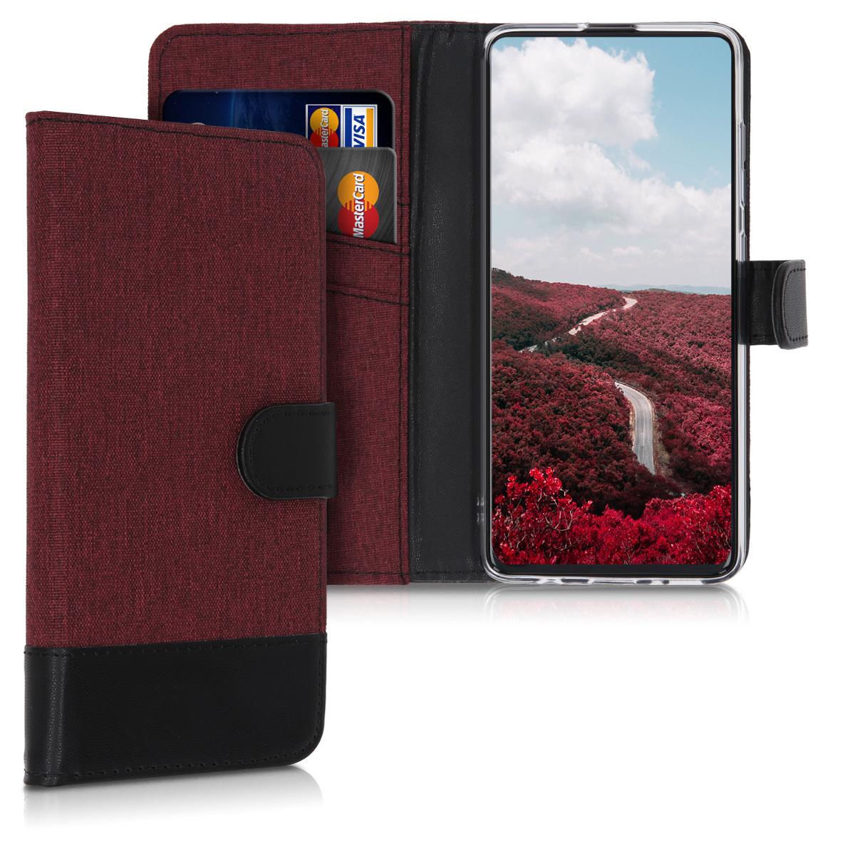 Fabricpouzdro pro Samsung A51 - Dark Red / Black